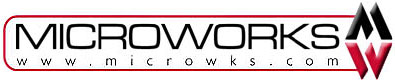 Microworks logo. Microworks is based in Fresno, CA.